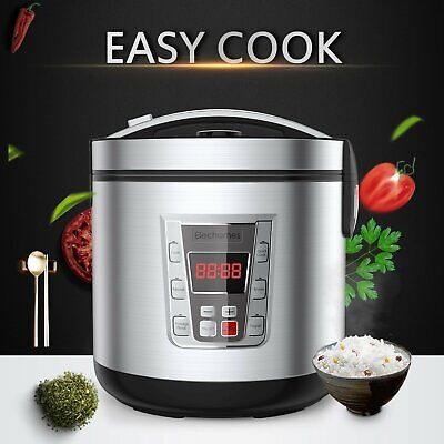 12-Cup Uncooked Digital Rice Cooker Prog Steamer Stainless Steel Multi-Cooker