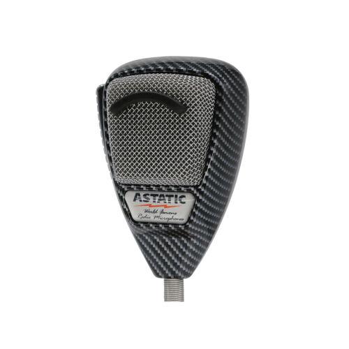 NEW Astatic 636L-CF Noise-Canceling 4-Pin CB Microphone - Carbon Fiber Finish