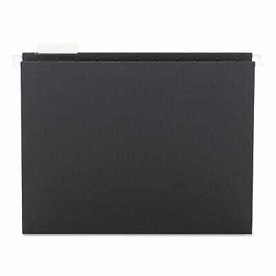 Smead Hanging File Folders 15 Cut 11 Point Stock Letter Black 25box 64062