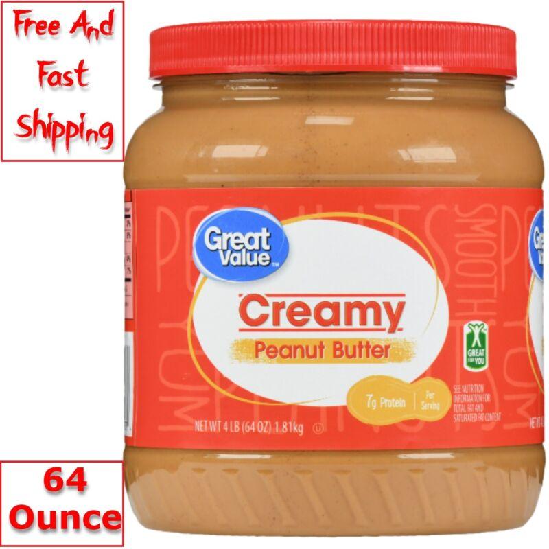 Great Value Creamy Peanut Butter 64 Oz