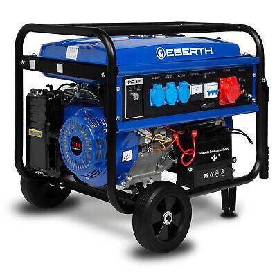 EBERTH Generador de energía gasolina emergencia 5500 V 9,56kw arranque eléctrico