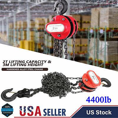 2 Ton 4400 Lb Chain Puller Block Fall Chain Lift Hoist Hand Tool Chain With Hook
