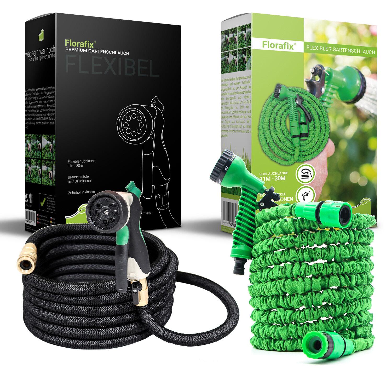 FLORAFIX® Flexibler Gartenschlauch Wasserschlauch dehnbarer Flexischlauch