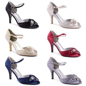 Womens-Ladies-High-Heel-Peep-Toe-Ankle-Strap-Sandals-Bridal-Wedding-Shoes-UK-3-8
