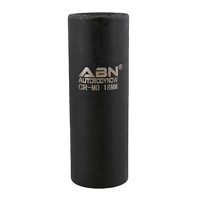 ABN 1/2in Drive 18mm Socket - Deep Impact Metric Sockets 6pt Metric Deep Socket 2in Drive Metric Impact Socket