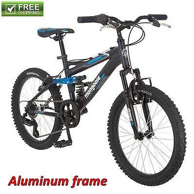 "20"" MONGOOSE MOUNTAIN BIKE BOYS' SUSPENSION Aluminum Frame Bicycle Shimano NEW!"