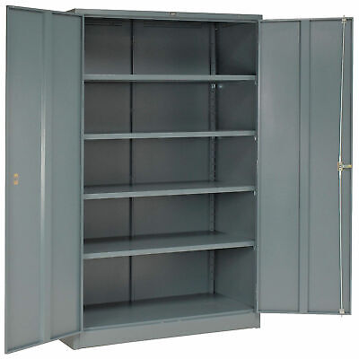 Unassembled Metal Storage Cabinet 48x24x78 Gray