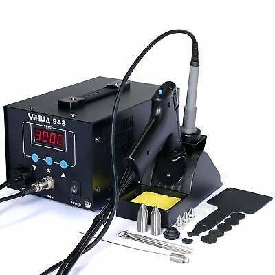 2in1 Lcd Soldering Iron Desoldering Station Vacuum Pump Gun Yihua 948 Esd Safe
