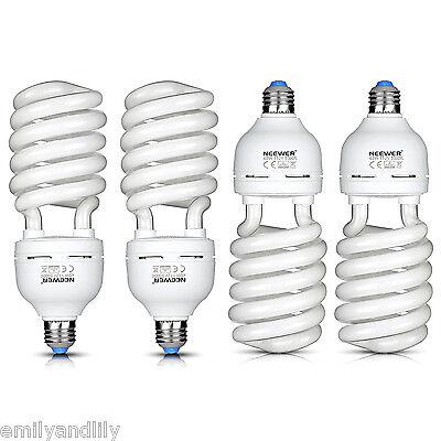 Neewer 4 Pack 45W 5500K Tri-phosphor Spiral CFL Daylight Balanced Light Bulb