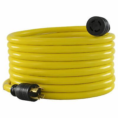 100 30a Generator Powerextension Cord With Nema L14-30p To L14-30r