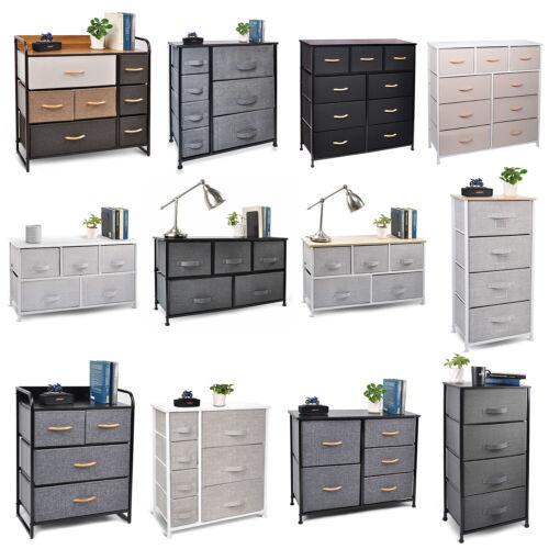 Cerbior Bedroom Storage Dresser Tower Shelf Organizer BinsCabinet Fabric Drawers