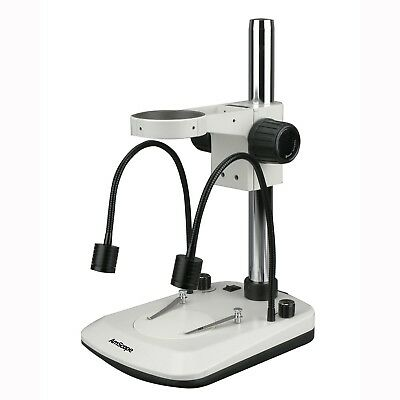 Amscope Stereo Microscope Table Stand W Built In Dual Gooseneck Illuminator Fo