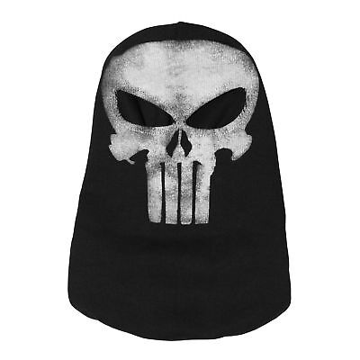 The Punisher Balaclava Ghost Skull Halloween Mask Hood  3D Cutting Mask Cosplay (Punisher Halloween Mask)