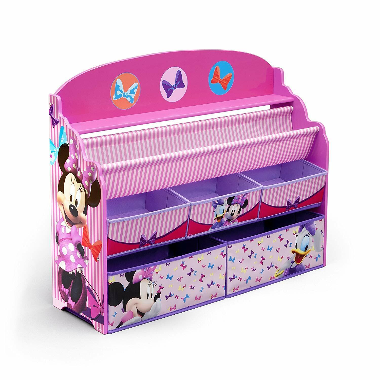 Delta Children Deluxe Book & Toy Organizer, Disney Minnie Mo