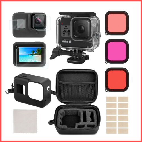 Accessories Kit for GoPro Hero 8 Black Protective Underwater Dive Housing Case