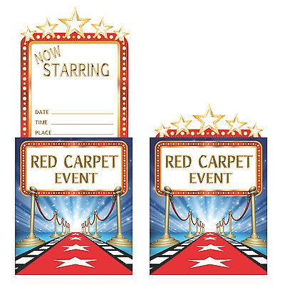 8 X Hollywood Einladungskarten Einladung Karten Roter Teppich Movie Night Film