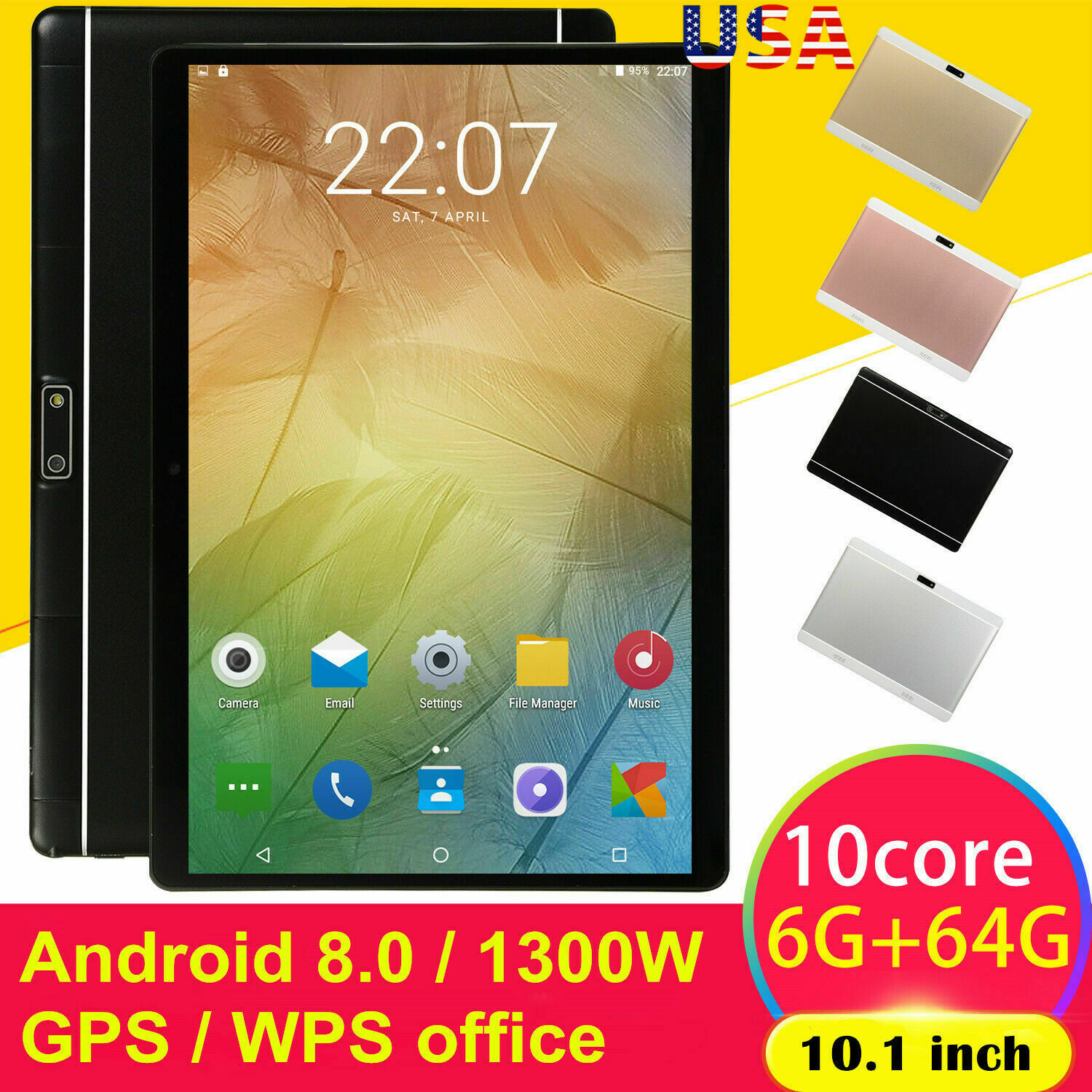Android8.0 Ten Core 10.1 Inch HD Game Tablet Computer PC GPS