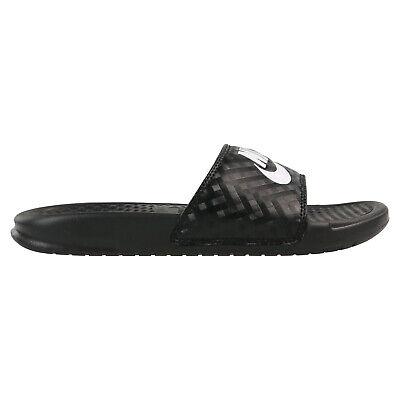 Nike Benassi Schuhe Badeslipper Badelatschen Damen 343881 011 Schwarz