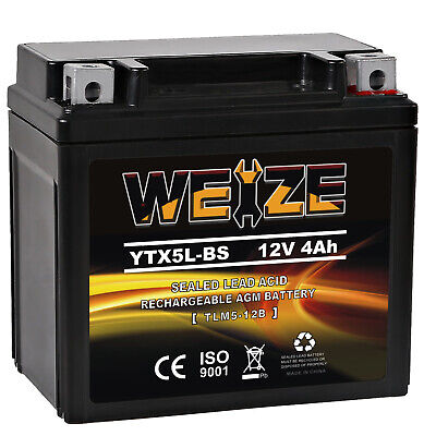 Weize YTX5L-BS High Performance Maintenance Free Lead Sealed Motorcycle Battery