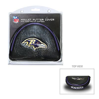 NFL Baltimore Ravens Mallet Putter Cover Golf Headcover Course Club Bag (Baltimore Ravens Headcover)