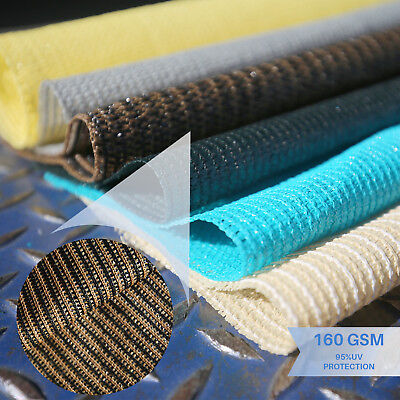 Brown Custom 12' FT Fabric Roll Sail Cloth Fence Outdoor Windscreen Privacy Mesh