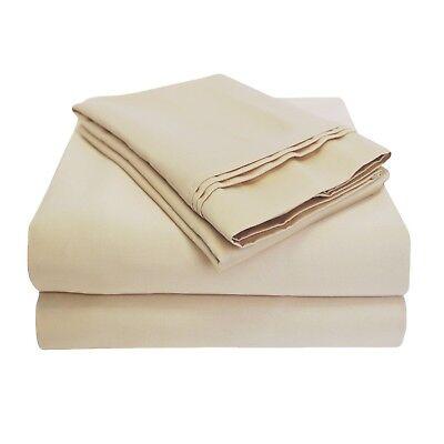 Luxor Style 100% Ägyptische Baumwolle Blatt 1000 TC Voll Angepasst ~ Creme Neu (1000 Tc Blatt)