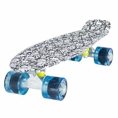 Land Surfer Cruiser Skate 55.9cm Calavera Tabla Azul Transparente Ruedas