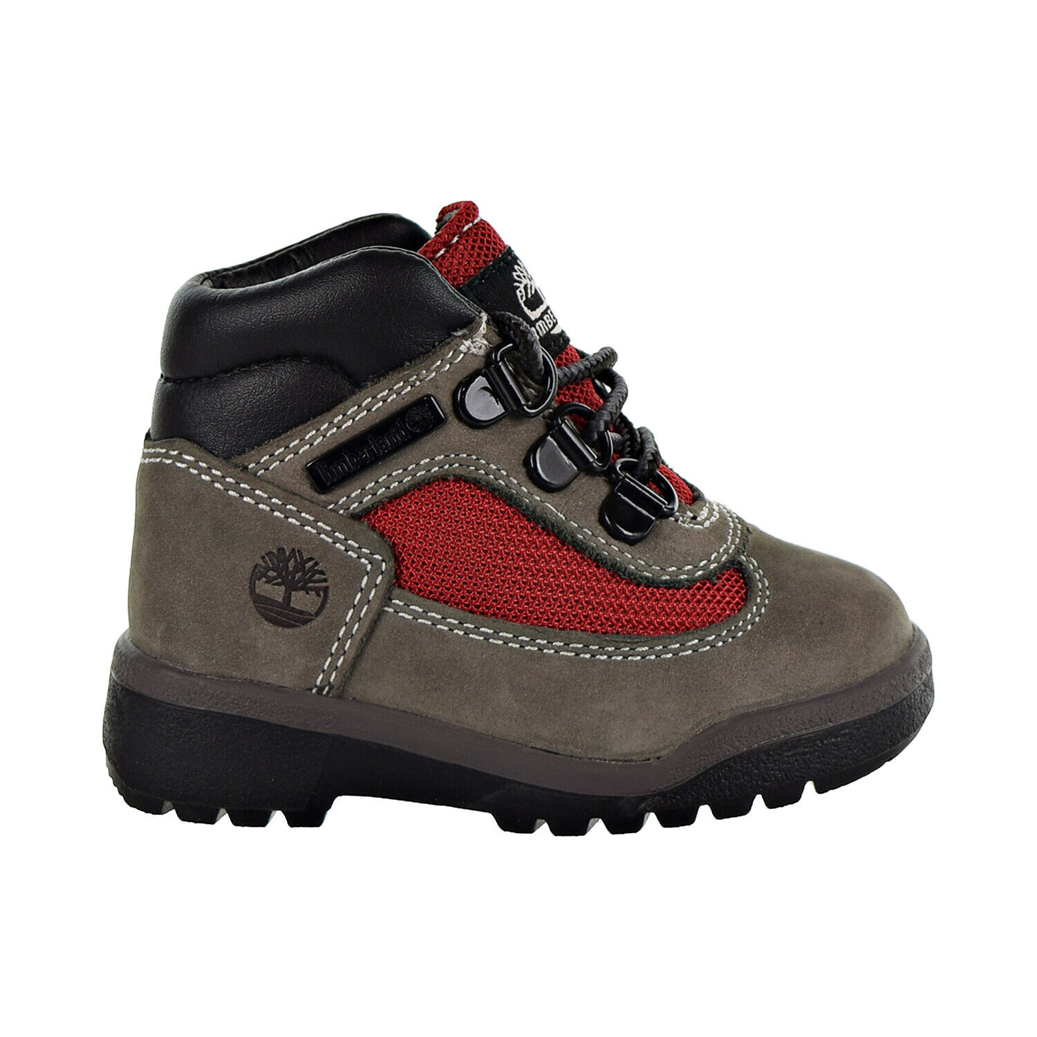 Timberland Field Boot L-F Mid Toddler's Shoes Grey-Red TB0A1ROS