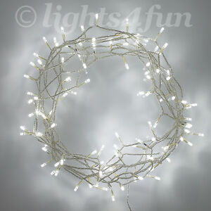 100 white led christmas bedroom indoor fairy string lights on 8m clear cable ebay for White christmas lights bedroom