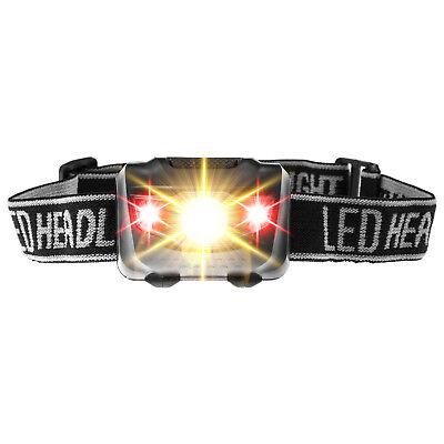 ‼️XAiOX® LED Stirnlampe Kopflampe 4 Modi Joggen laufen Handwerker Taschen Lampe (Handwerker Taschenlampe)