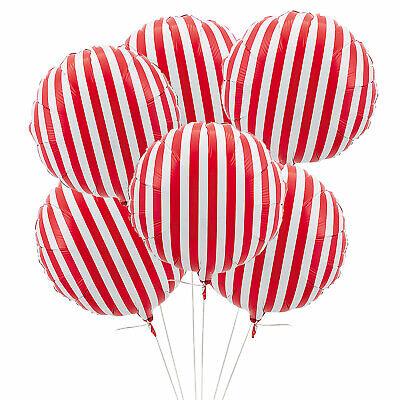 Red Stripe 18' Mylar Balloon - 6 Pieces