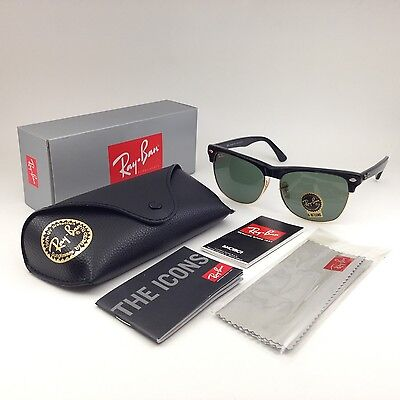 SALE 3 days! Ray-Ban Clubmaster Oversize Sunglasses RB4175 877 New Green / Black