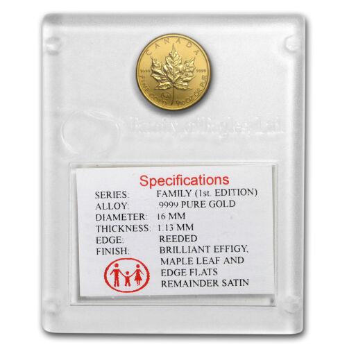 1997 Canada 1/10 oz Gold Maple Leaf BU (Family Privy, in Assay) - SKU#36114