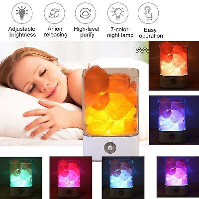 Himalayan Salt Lamp Natural Crystal Ionic Pink Rock Air Purifier Led Light
