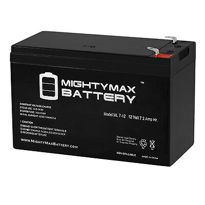 Mighty Max 12V 7AH Battery For UPS And Alarm Systems + 12V