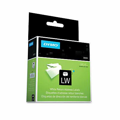 Dymo Labelwriter Return Address Labels 34 X 2 White 500 Labelsroll 30330