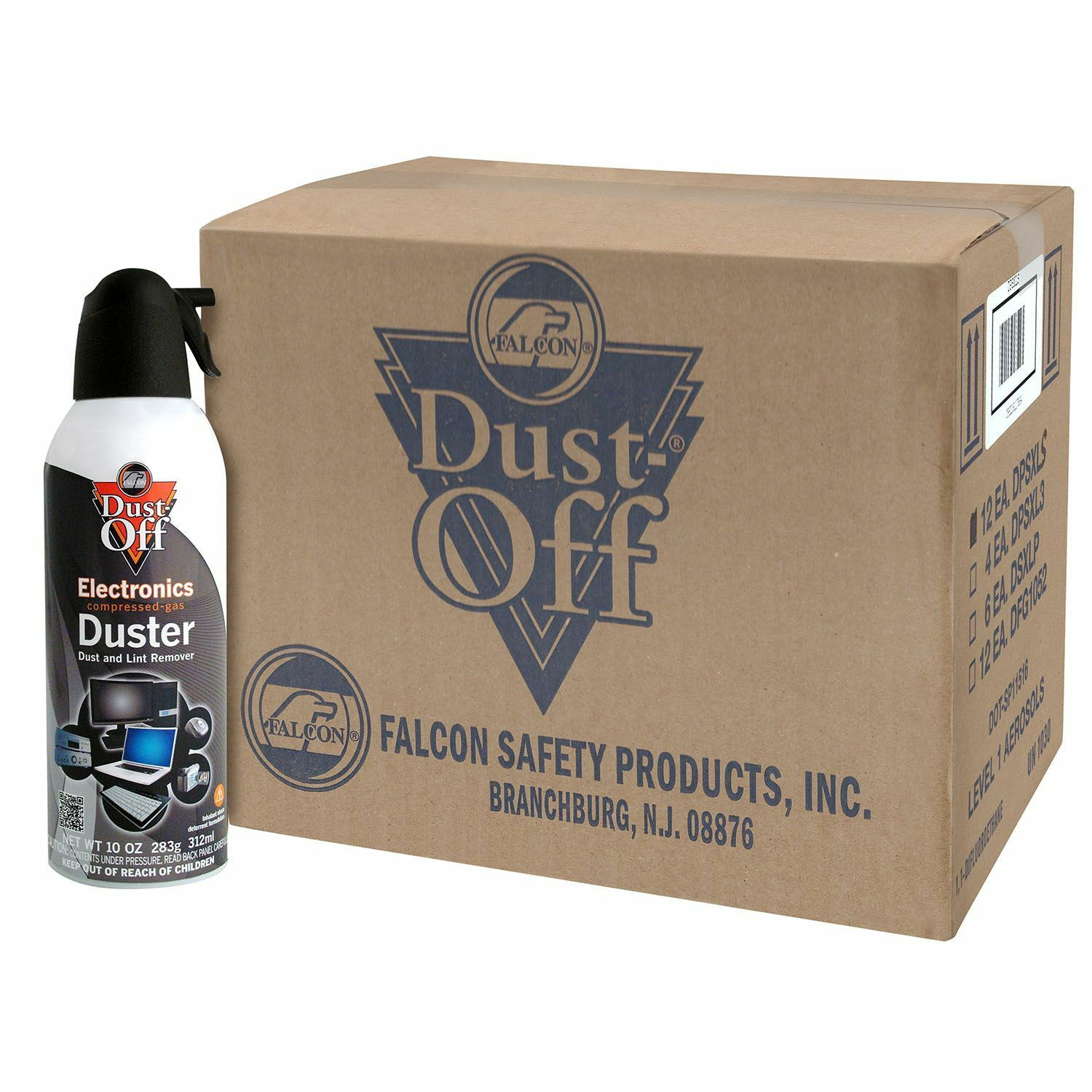 Case Of Falcon Dust Off 12 Pack 10 Oz Cans Remover Compre...