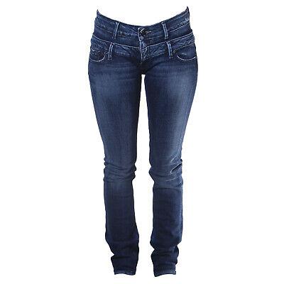 Doppel Taille Jean (Blau Blood Damen Med Wash Bartlett Doppel Taille Enge Passform Jeans 26x32)