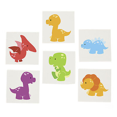72 LITTLE DINO Dinosaur TATTOOS Party Favors T Rex Paleontologists Dino Dig - Little Dino Party Supplies