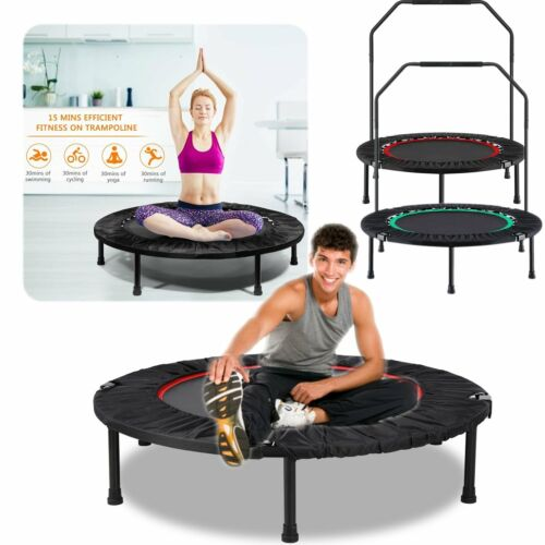 "40"" Trampoline Fitness Exercise Mini Rebounder  Gym Cardio T"