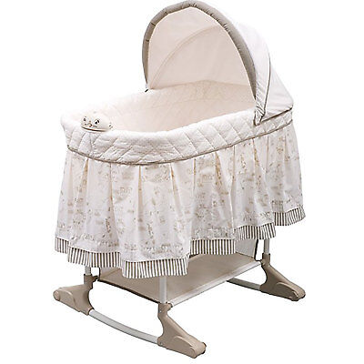 Delta Children Newborn Infant Baby Playtime Jungle Gliding Rocking Bassinet