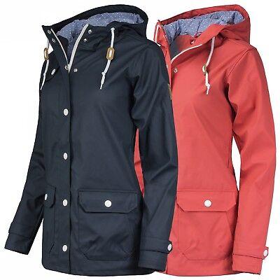 Derbe Damen Regenjacke Kurzmantel Jacke mit Kapuze wasserabweisend winddicht Mit Kapuze Damen Regenjacke