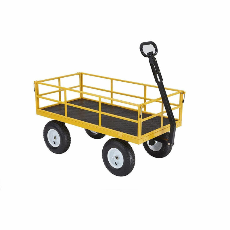 Gorilla Carts 1200 Pound Capacity Utility Wagon with Removable Sides (Open Box)