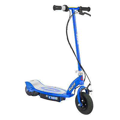 Razor E100 Motorized 24 Volt Rechargeable Electric Power Kids Scooter, Blue