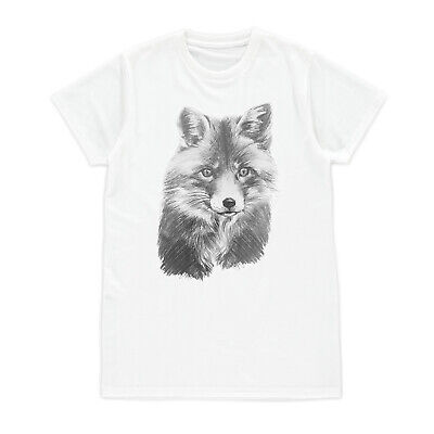 Fox Cub T Shirt Vegan Animal Anti Hunting Wildlife Women Girl Men Printed Tee - Fox Girls T-shirt