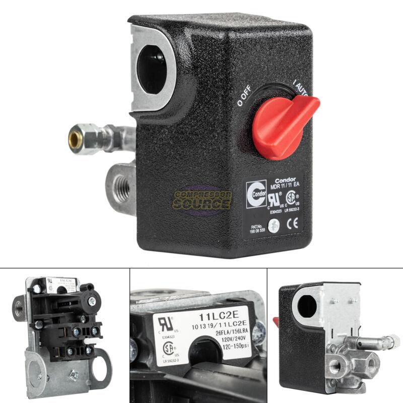"""Condor 11LC2E Pressure Switch Control Valve 120-150PSI 4 Port 1/4"""" FNPT MDR11/11"""