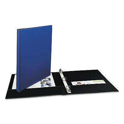 """Avery Economy Non-View Binder with Round Rings 11 x 8 1/2 1/2"""" Capacity Blue"""