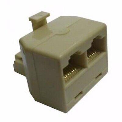 Adaptador Divisor Doble 2 RJ45 Hembra Female Convertidor Ethernet de Puerto