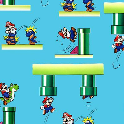 Nintendo Super Mario Tunnels Fabric