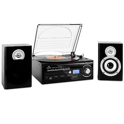 Hi-Fi Stereo sistema GIRADISCHI vinilico RADIO REGISTRATORE A CASSETTE CD MP3